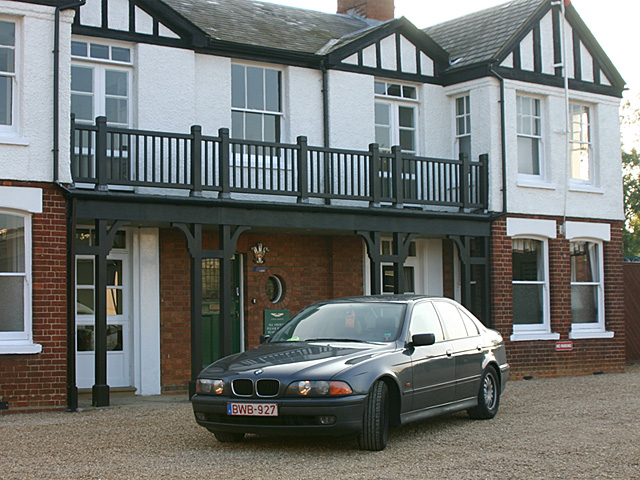 My BMW 528i at Newport-Pagnell - My former car -