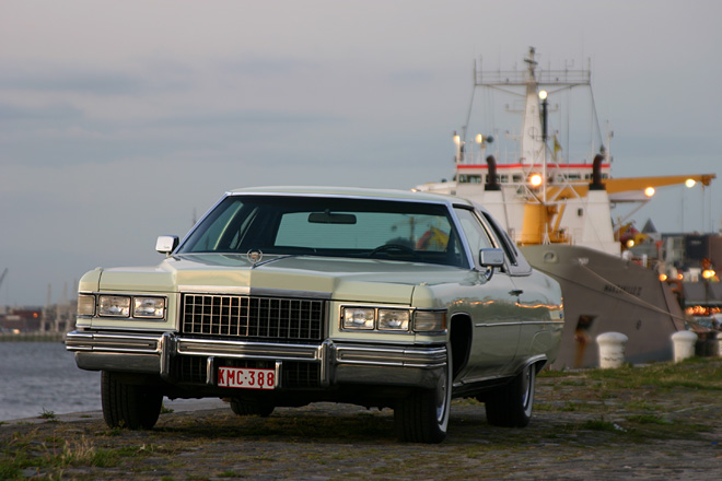 1976 Cadillac Coupe deVille - A 1976 Cadillac Coupe deVille. -